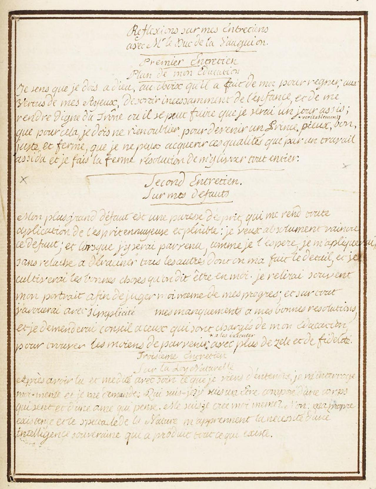 Le Journal du roi Louis XVI et ses Reflexions sur ses entretiens avec Mr le Duc de la Vauguyon Louis_97