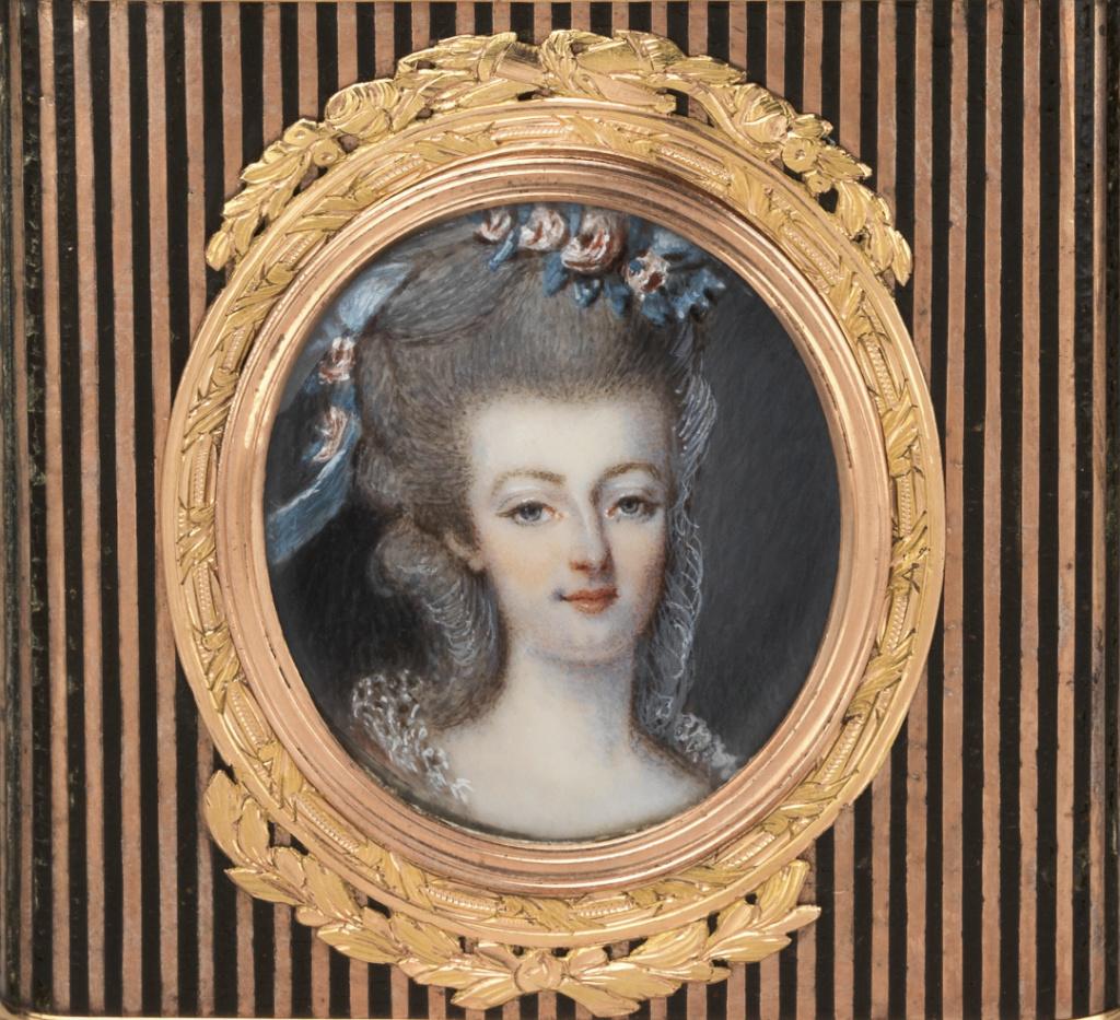 Portraits de Marie-Antoinette et Louis XVI, par Louis-Marie Sicard, dit Sicardi ou Sicardy Marie-12