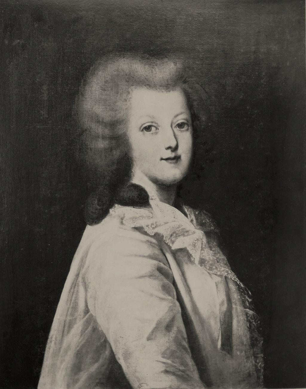 wertmuller - Marie-Antoinette en habit de chasse, ou chemise blanche, par Wertmüller (1788) Marie-34