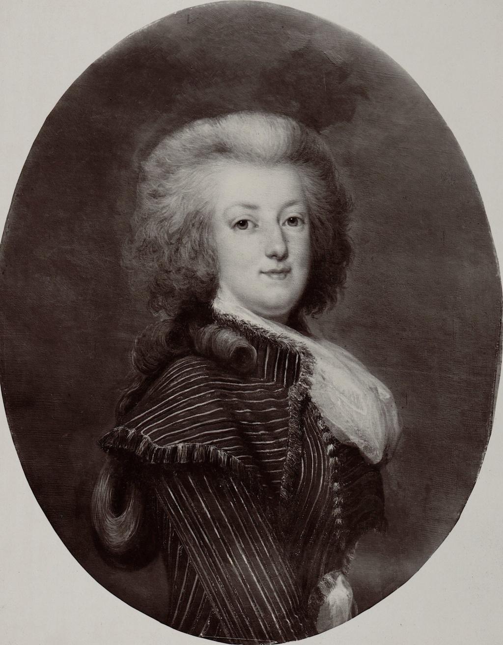 wertmuller - Marie-Antoinette en habit de chasse, ou chemise blanche, par Wertmüller (1788) Marie-35