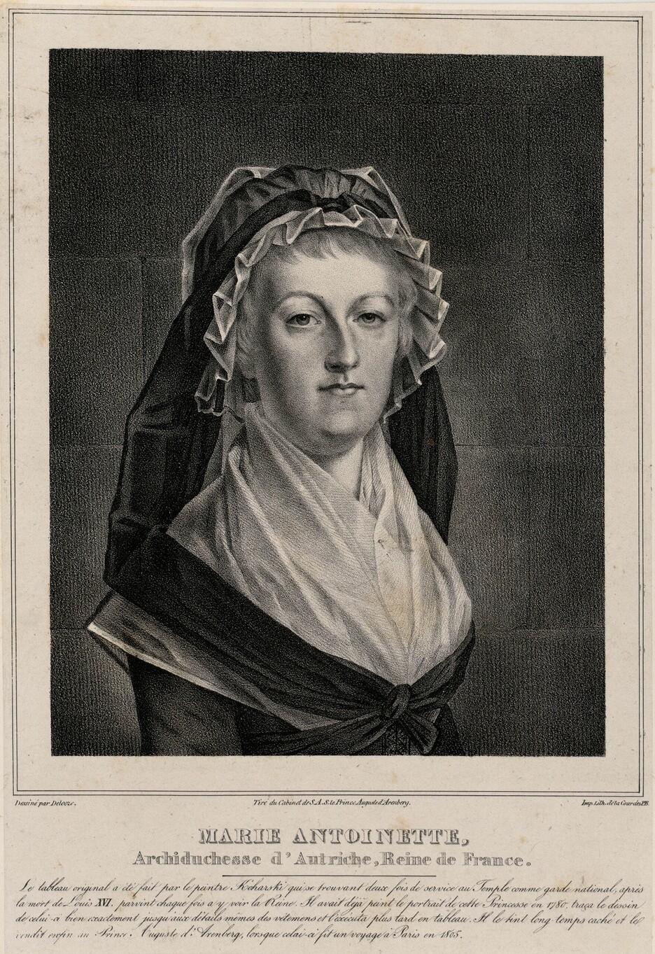 Marie-Antoinette en deuil, par Kucharsky (1793) Marie-46