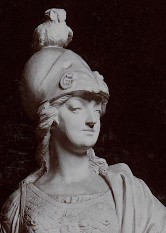 Groupe en biscuit de porcelaine de Niderviller, par Lemire : Marie-Antoinette représentée sous les traits de Minerve ? Marie-50