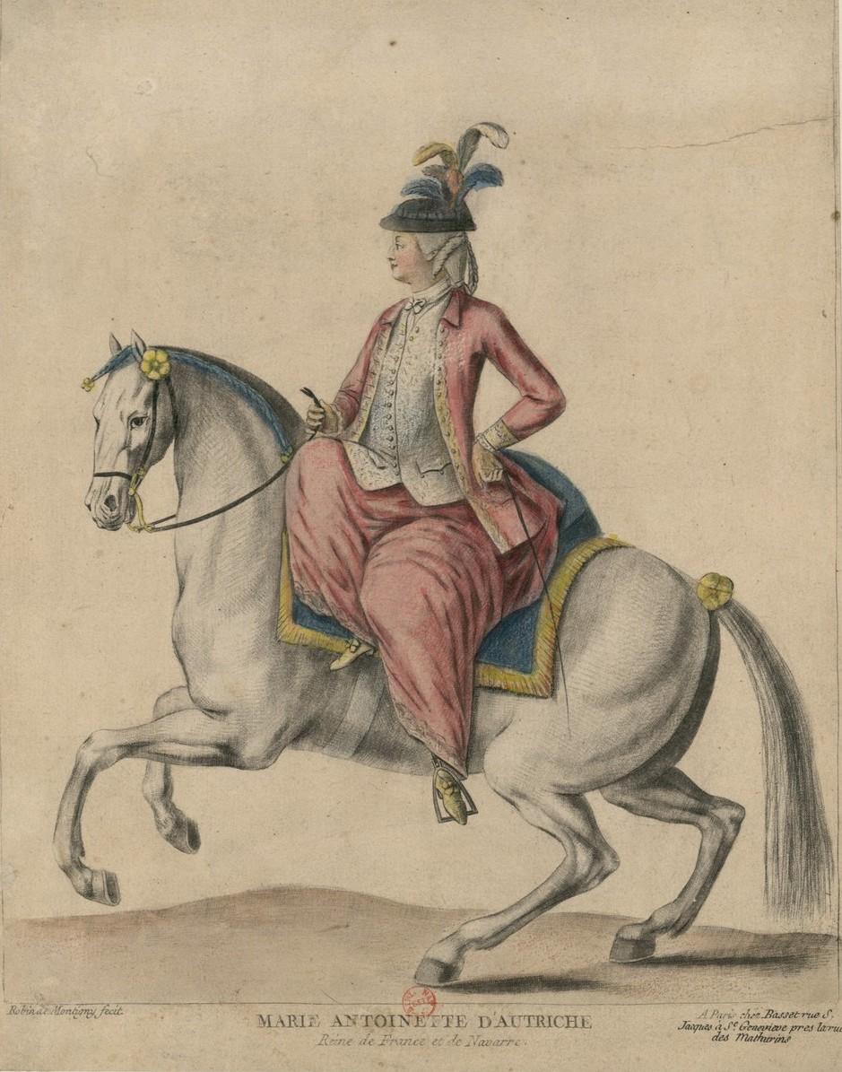 Série d'estampes : portraits équestres de Robin de Montigny  Marie-63
