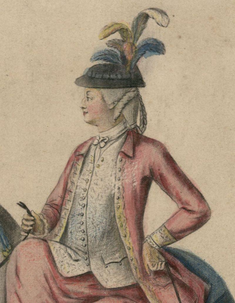 Série d'estampes : portraits équestres de Robin de Montigny  Marie-64