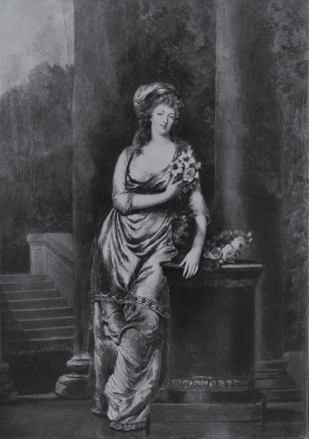 Portraits de Marie-Antoinette costumée à l'antique, ou en vestale, par et d'après F. Dumont  Marie-82