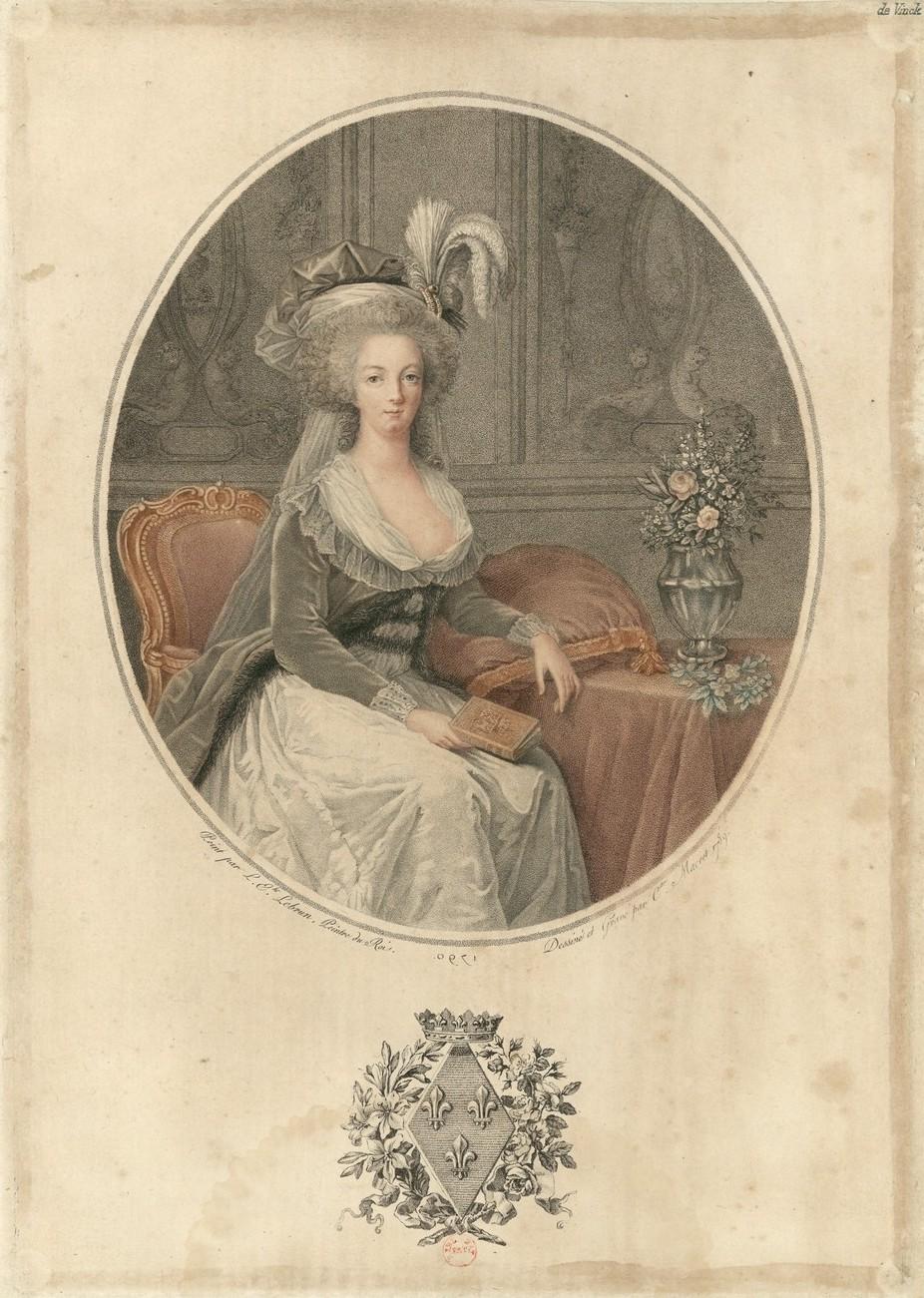 Portraits de Marie-Antoinette au livre, en robe bleue, par Vigée Le Brun (1785 - 1788 ?) - Page 2 Marie158