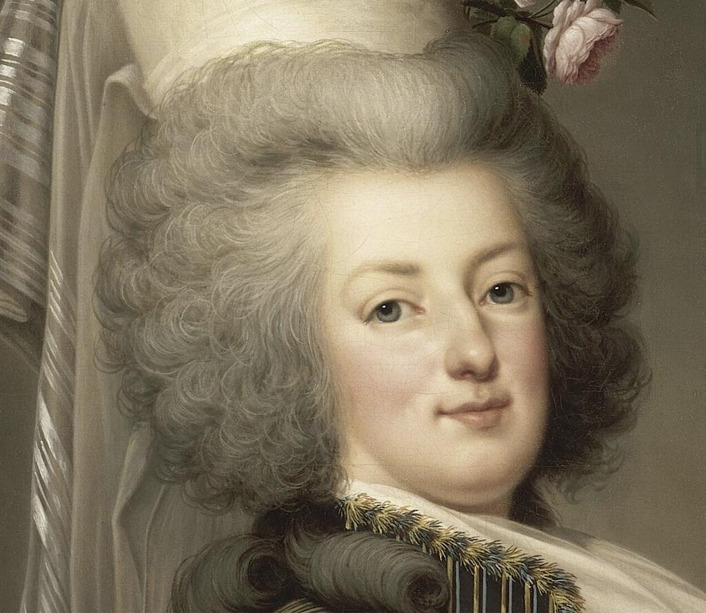 wertmuller - Marie-Antoinette en habit de chasse, ou chemise blanche, par Wertmüller (1788) Marie_20