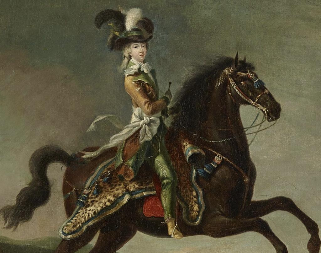 Louis-Auguste Brun, portraits de Marie-Antoinette en tenue de chasse Marie_21
