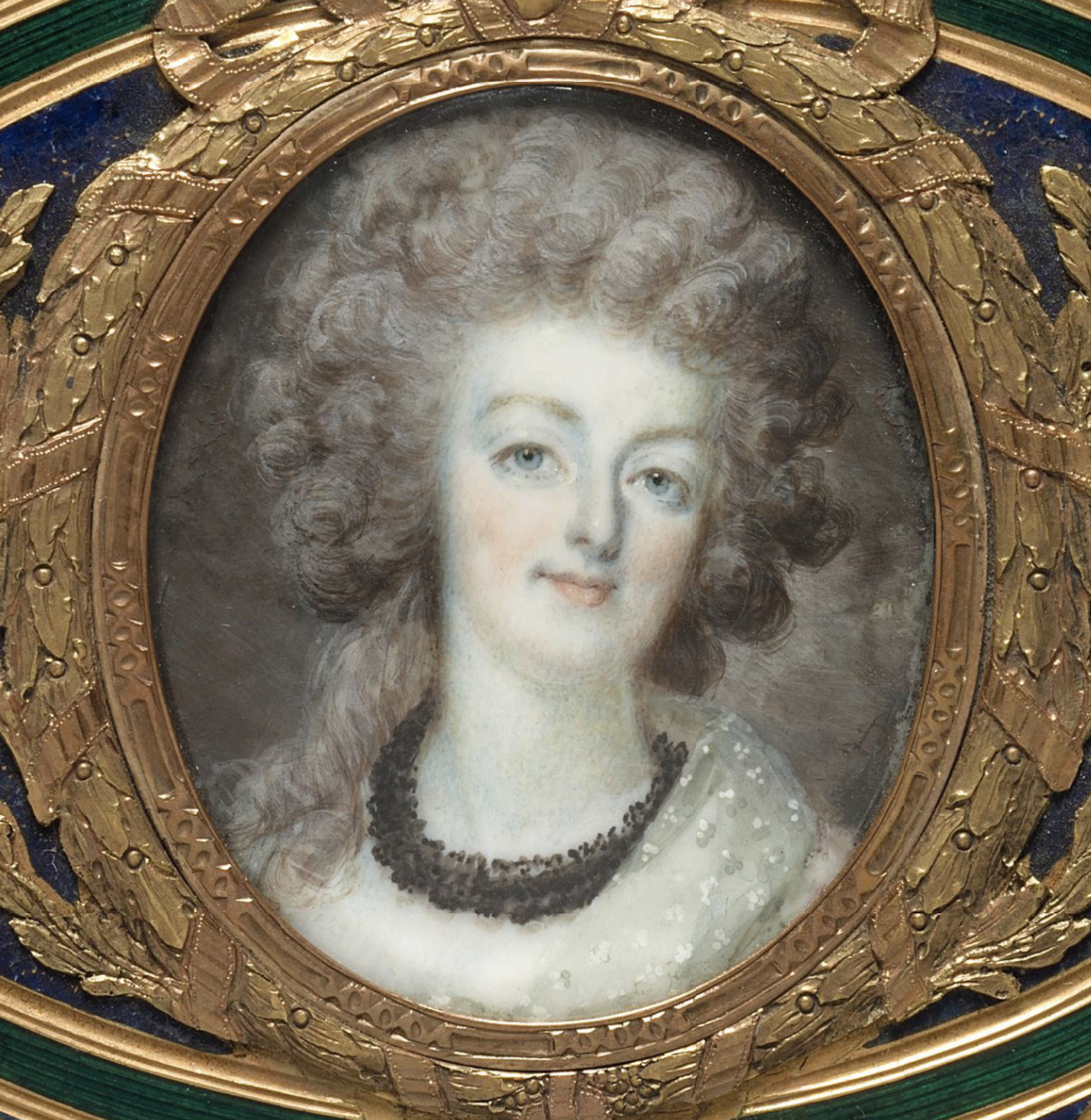 Marie Antoinette, miniatures attribuées à ou d'après François Dumont - Page 2 Marie_23