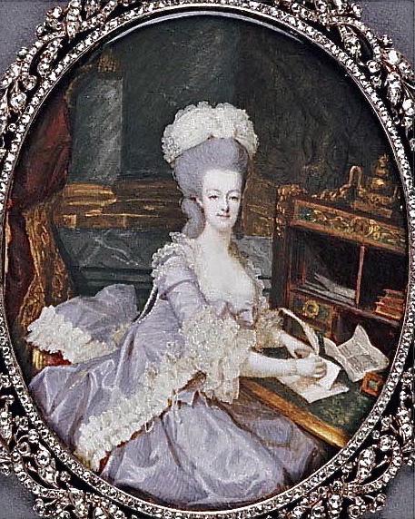 Marie Antoinette, miniatures attribuées à ou d'après François Dumont - Page 2 Marie_31