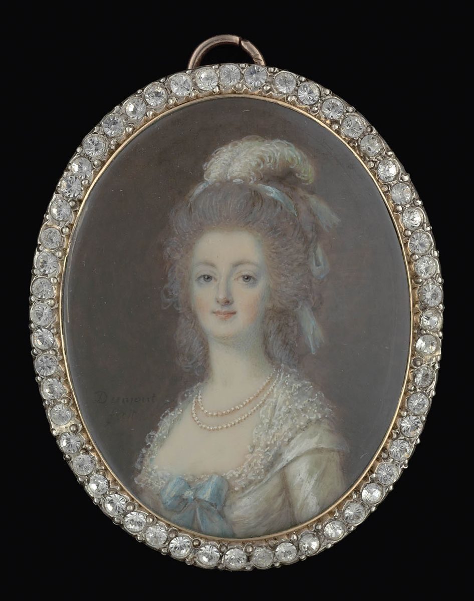 Marie Antoinette, miniatures attribuées à ou d'après François Dumont - Page 2 Marie_45