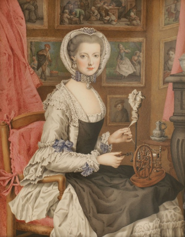 Un rouet ayant appartenu à Marie-Antoinette ? Les rouets au XVIIIe siècle Marie_56