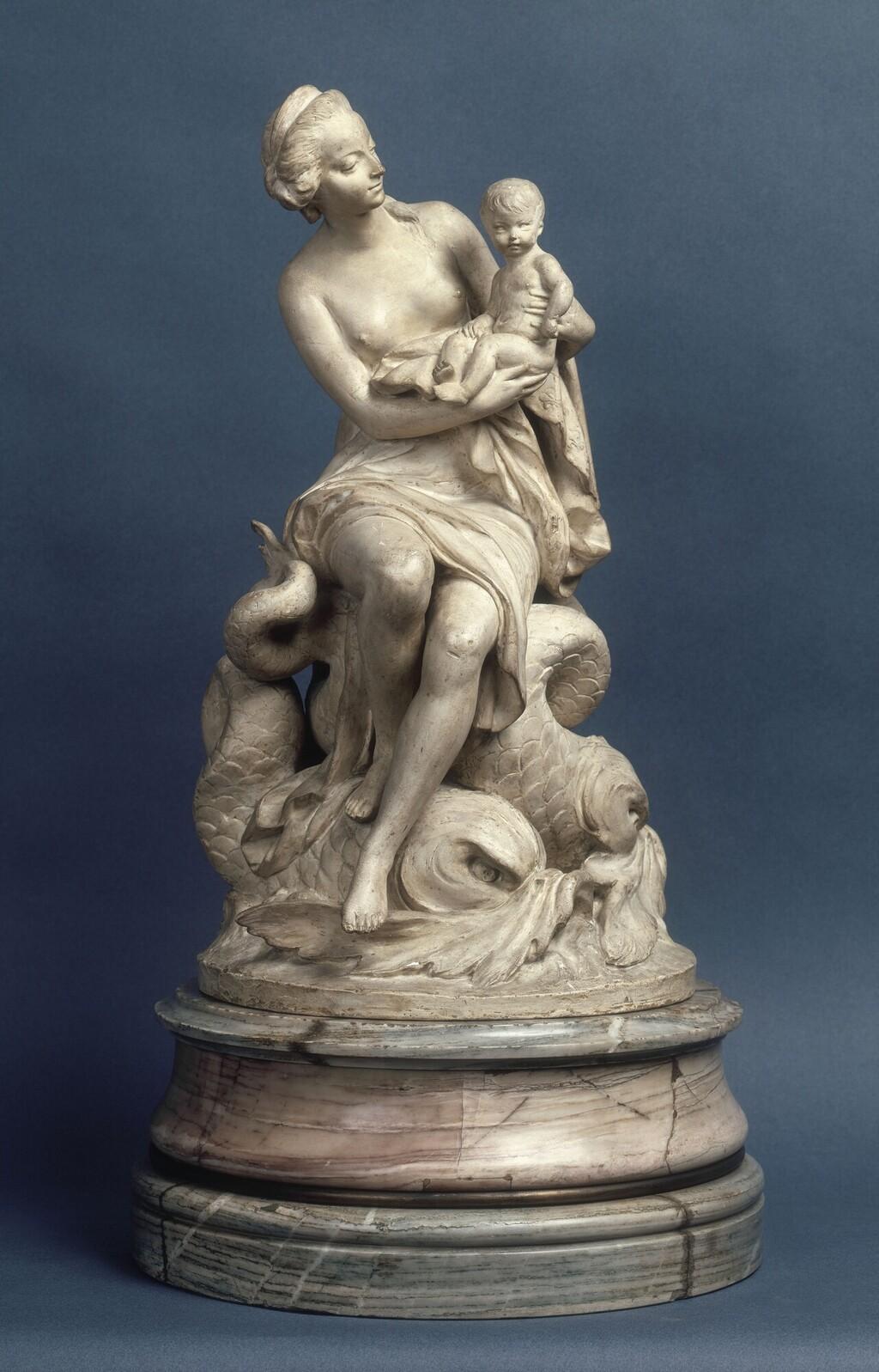 Marie-Antoinette, allégorie de la naissance du dauphin, par et d'après Augustin Pajou Marie_70