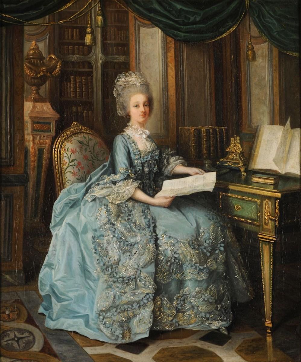 Lié-Louis Périn-Salbreux : Portrait de Marie-Antoinette ou de Madame Sophie ? Marie_73