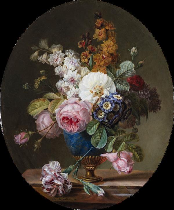 La peinture des fleurs : Sophie de Fuligny-Damas, marquise de Grollier Marqui10