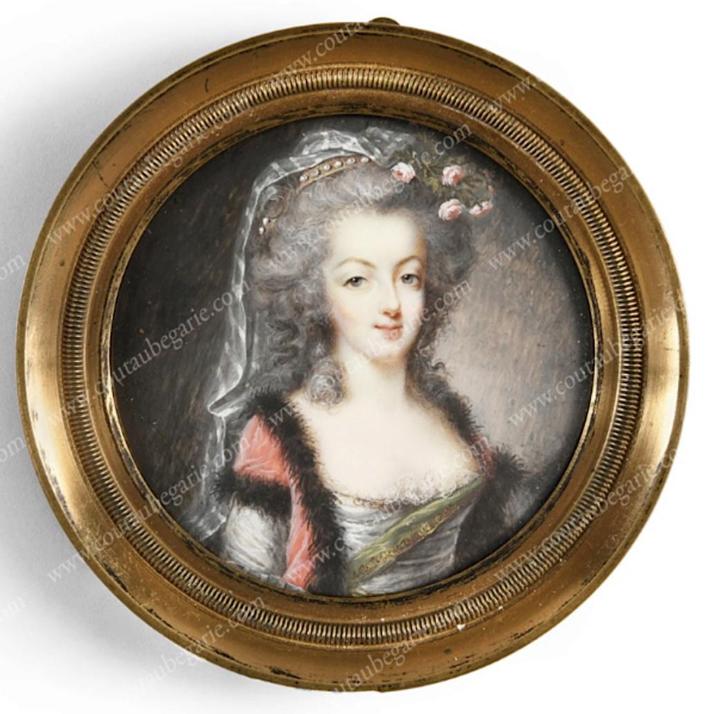 Divers portraits de Marie-Antoinette : miniatures du XVIIIe siècle (dont artistes non attribués) - Page 4 Miniat10