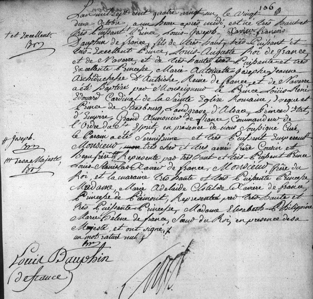 Joseph - Louis-Joseph de France, premier Dauphin - Page 4 Naissa12