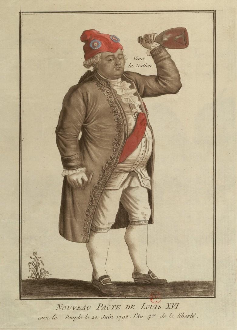 Louis XVI coiffé du bonnet phrygien Nouvea10