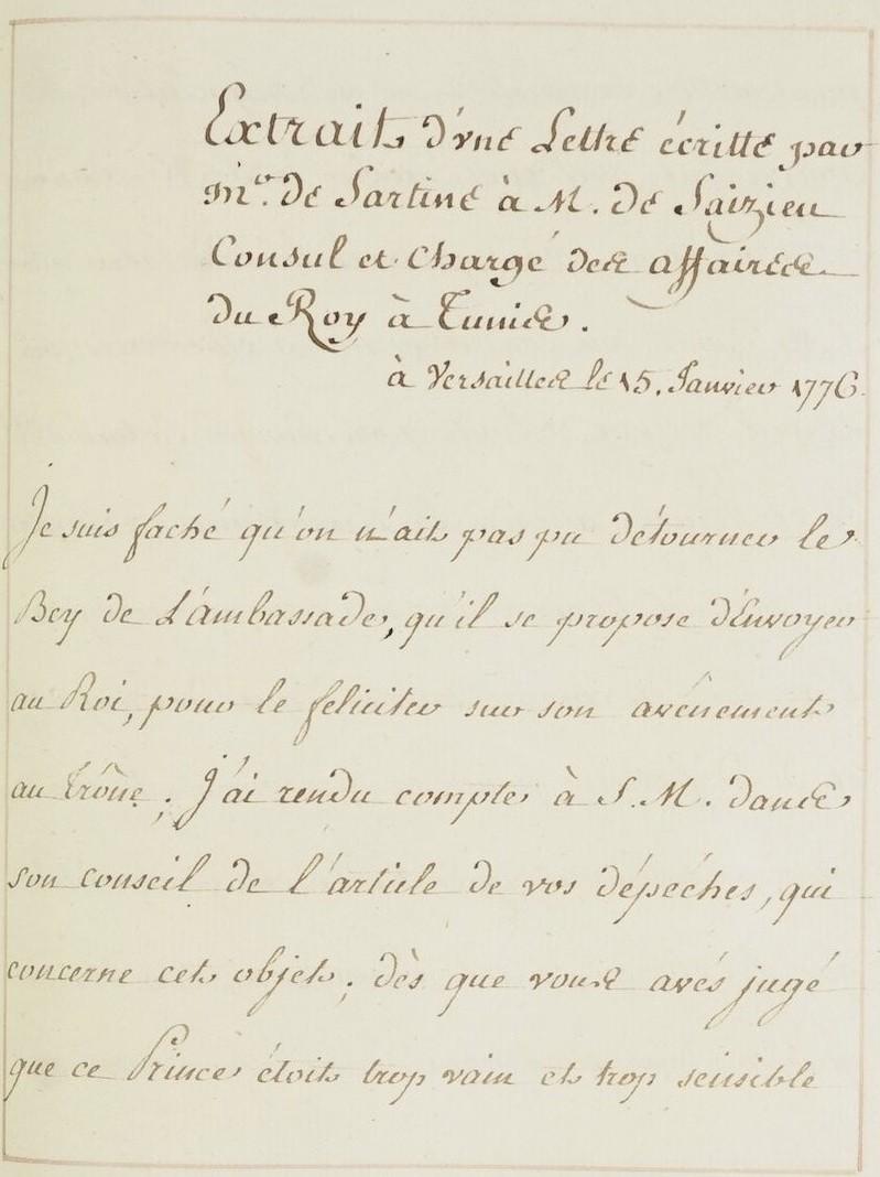 L'ambassade du Bey de Tunis à Versailles (1777) O_jour16