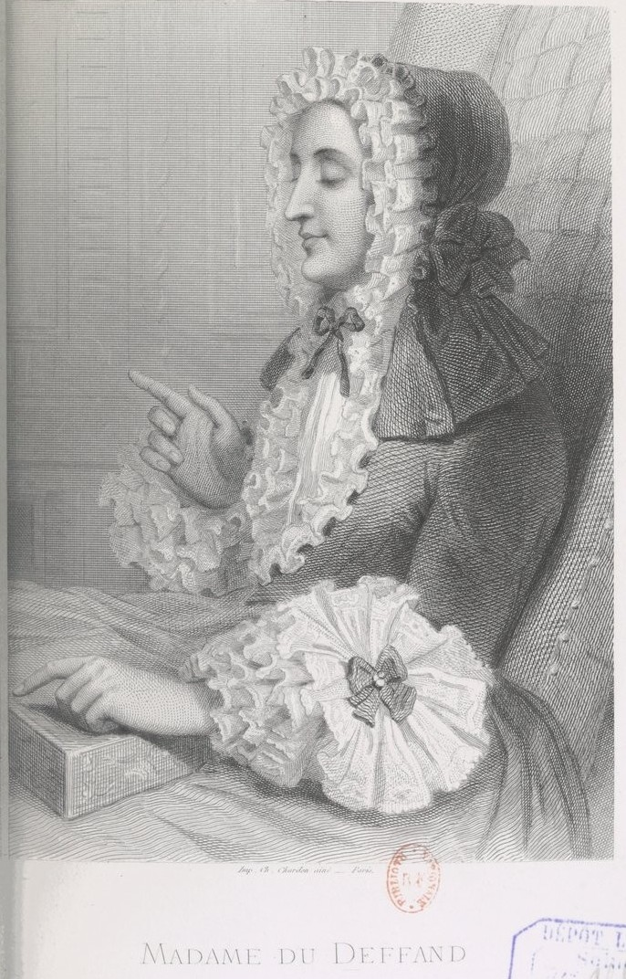 Marie de Vichy-Chamrond (ou Champrond), marquise du Deffand - Page 3 Oeuvre10