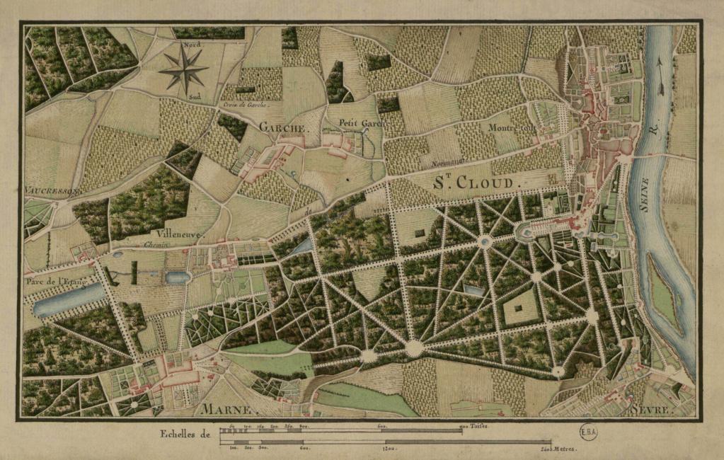 Les cèdres de Marie-Antoinette, jardin du Trocadéro, parc de Saint-Cloud Parc_d10