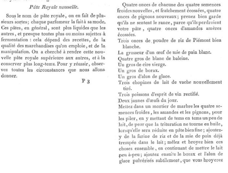 Les soins et produits de beauté de Marie-Antoinette : Jean-Louis Fargeon (parfumeur) et Pierre-Joseph Buc'hoz (médecin botaniste) Pate-r10