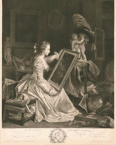 Gérard - L'artiste peintre Marguerite Gérard Pf193010