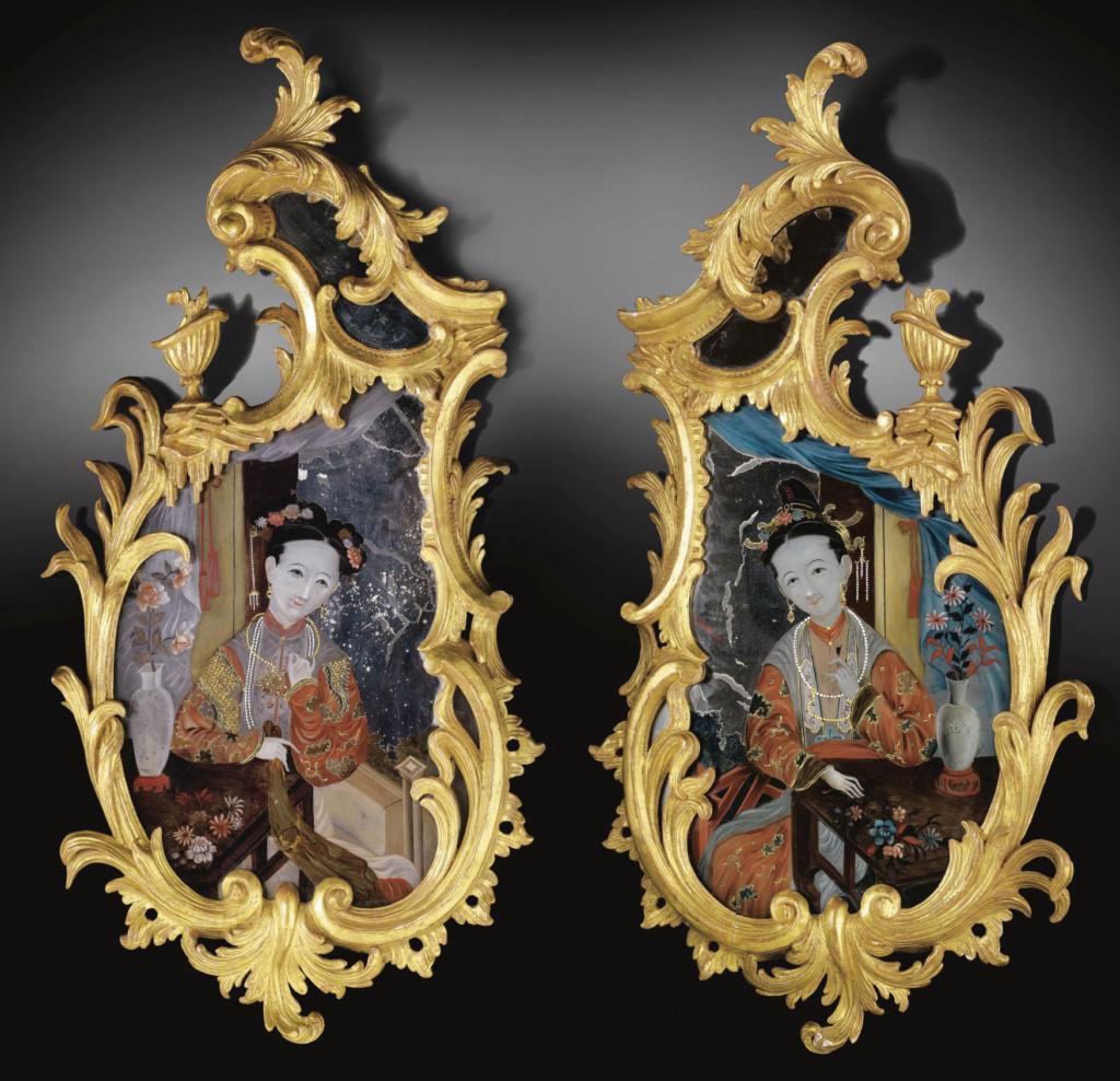 La peinture sous / sur verre chinoise au XVIIIe siècle Pf802613