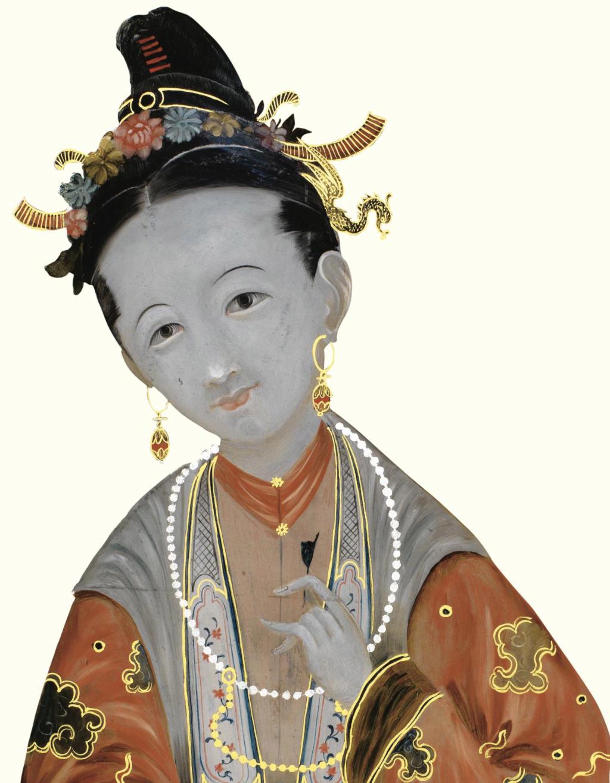 La peinture sous / sur verre chinoise au XVIIIe siècle Pf802614