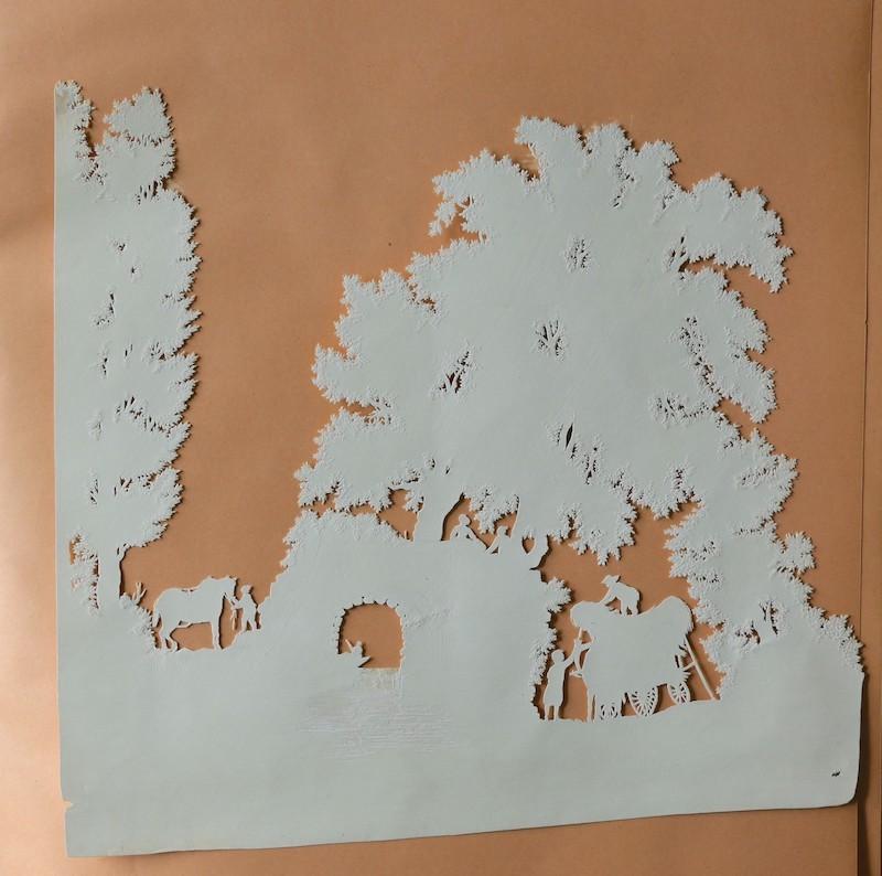 L'art des découpures : figures en papier découpées Piguet11