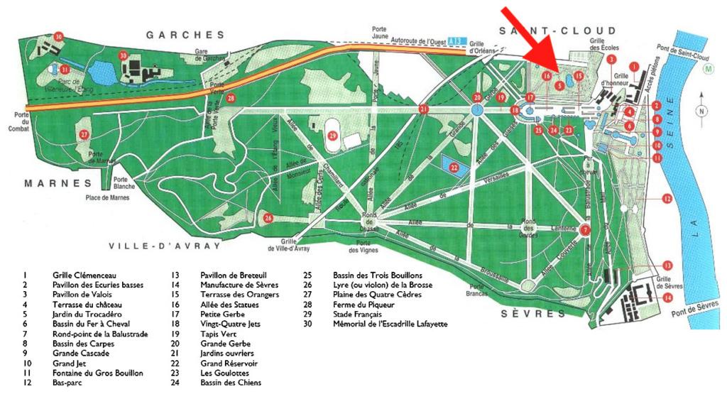 Les cèdres de Marie-Antoinette, jardin du Trocadéro, parc de Saint-Cloud Plan-p11