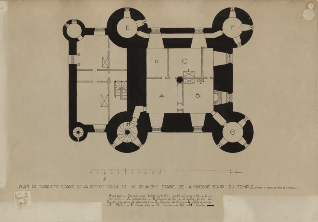 Plans et aménagements du donjon du Temple : la grande tour, la petite tour Plan_p11