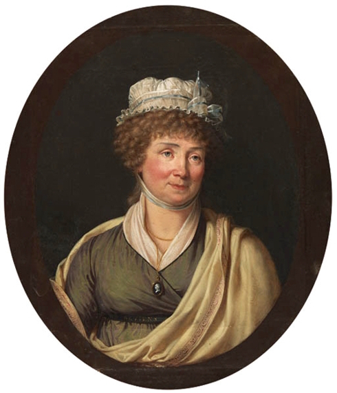 La peinture des fleurs : Sophie de Fuligny-Damas, marquise de Grollier Portra16