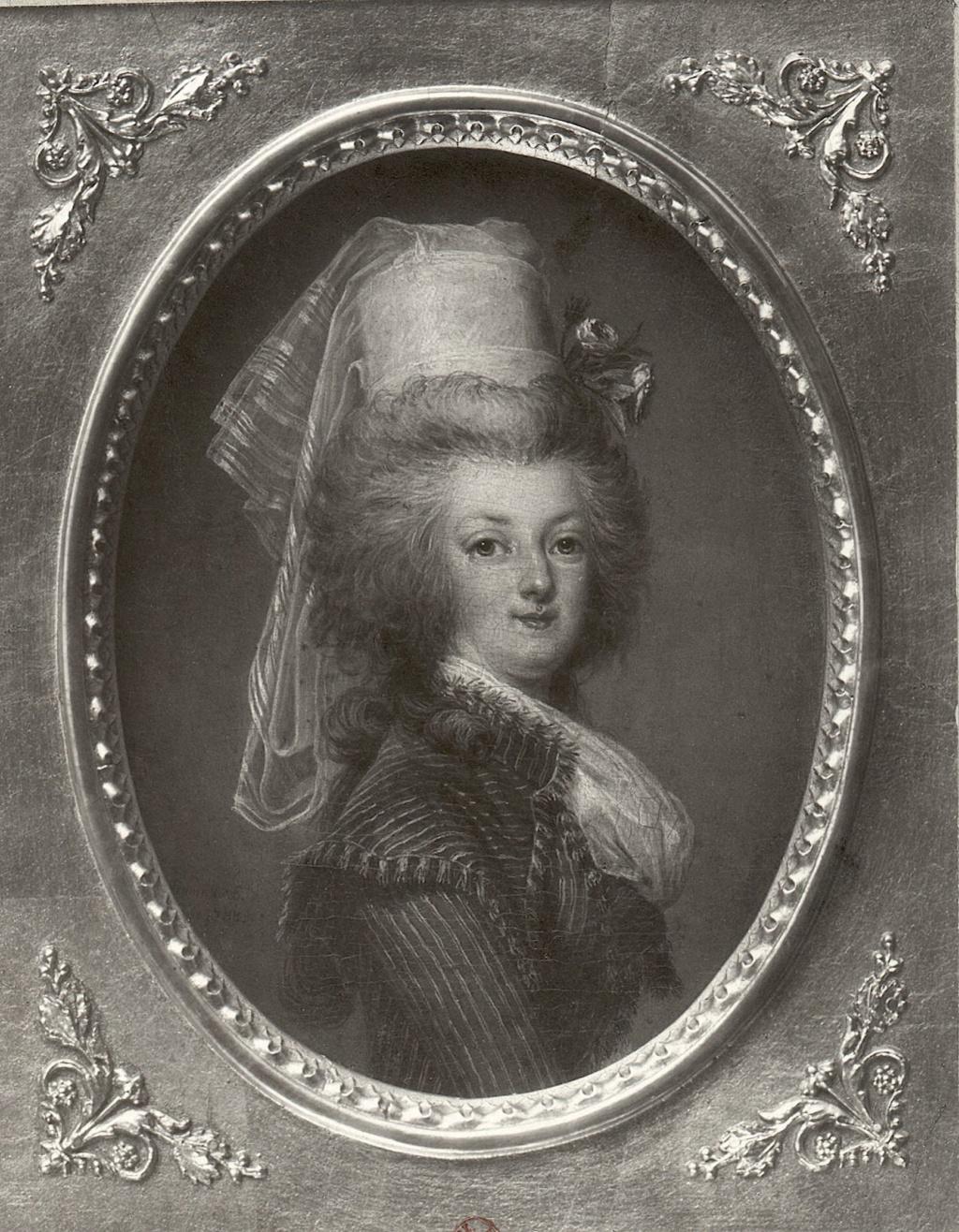wertmuller - Marie-Antoinette en habit de chasse, ou chemise blanche, par Wertmüller (1788) Portra21