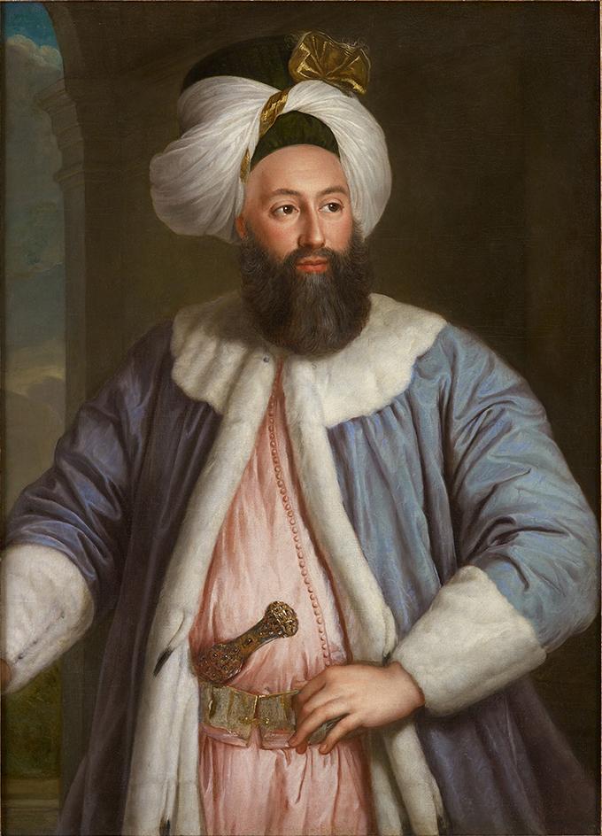 Yirmisekiz-Mehmed Çelebi Efendi - Ambassadeur de la Sublime Porte en visite en France de 1720 à 1721 Portra56