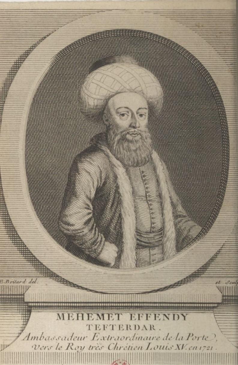 Yirmisekiz-Mehmed Çelebi Efendi - Ambassadeur de la Sublime Porte en visite en France de 1720 à 1721 Relati10
