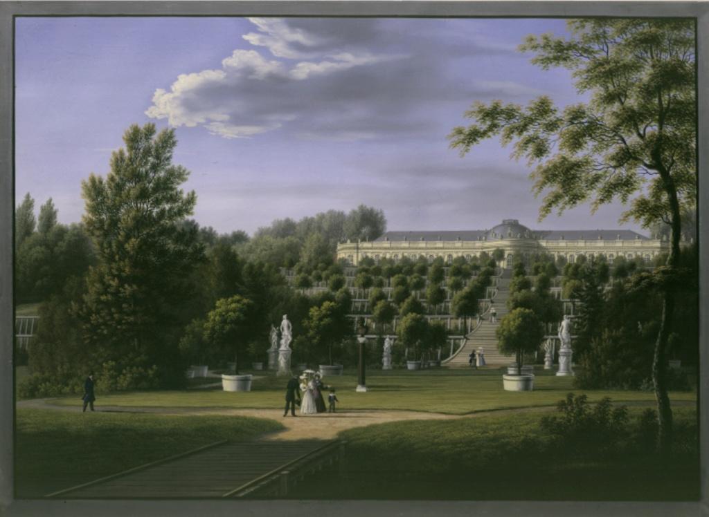 Le palais et le parc de Sans-souci, ou Sanssouci, à Potsdam  Sans-s10