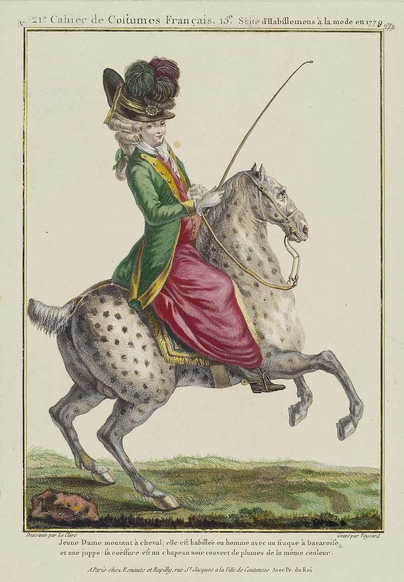Louis-Auguste Brun, portraits de Marie-Antoinette en tenue de chasse Sc115010