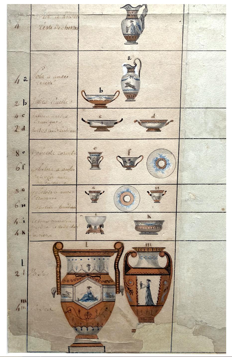 Service de Marie-Antoinette pour Rambouillet en porcelaine de Sèvres Servic14