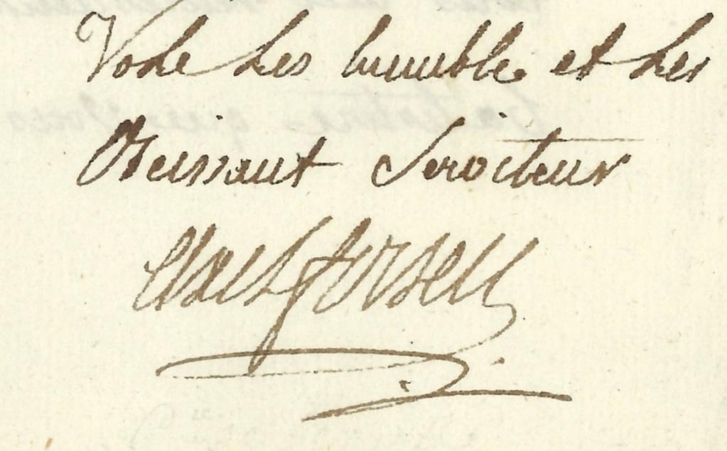 Lettres, mots, notes et extraits du journal d'Axel de Fersen - Page 2 Signat10