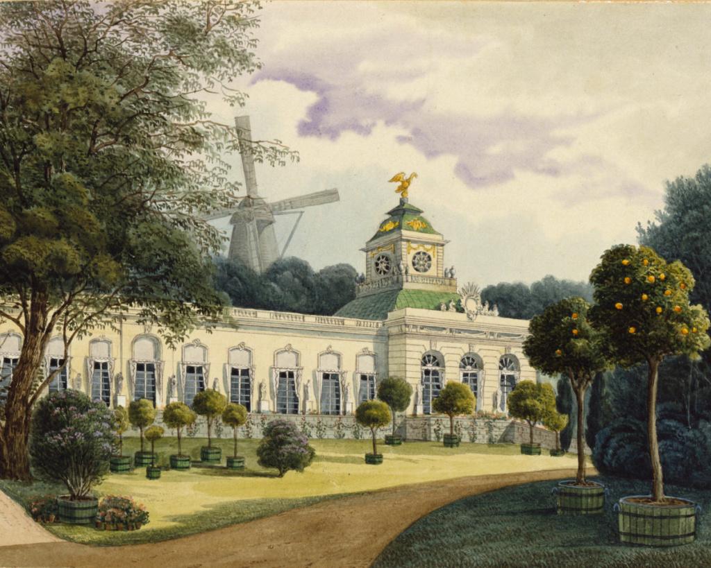 Le palais et le parc de Sans-souci, ou Sanssouci, à Potsdam  Spsg_h10