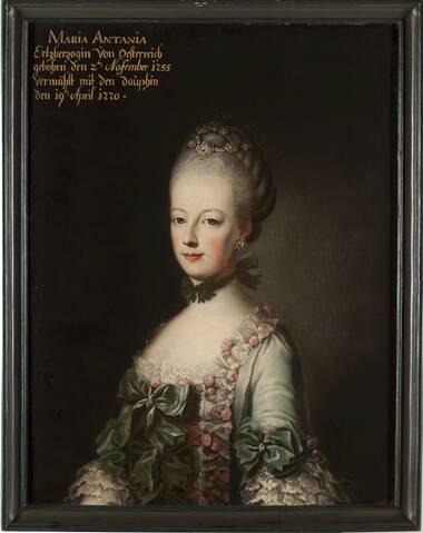 Recherches autour de portraits de Marie Antoinette, dauphine, non attribués