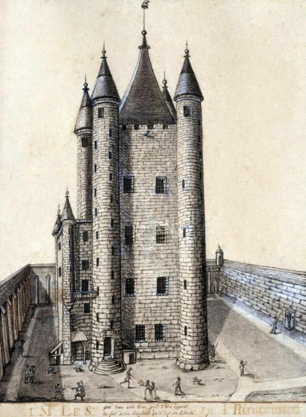 Plans et aménagements du donjon du Temple : la grande tour, la petite tour Tour_d10