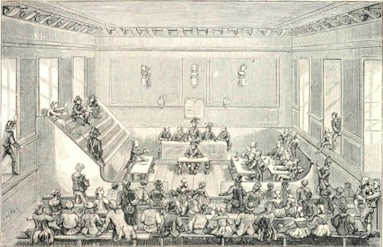 Le palais de Justice de L'île de la Cité, Paris, et la salle du Tribunal révolutionnaire Tribun10