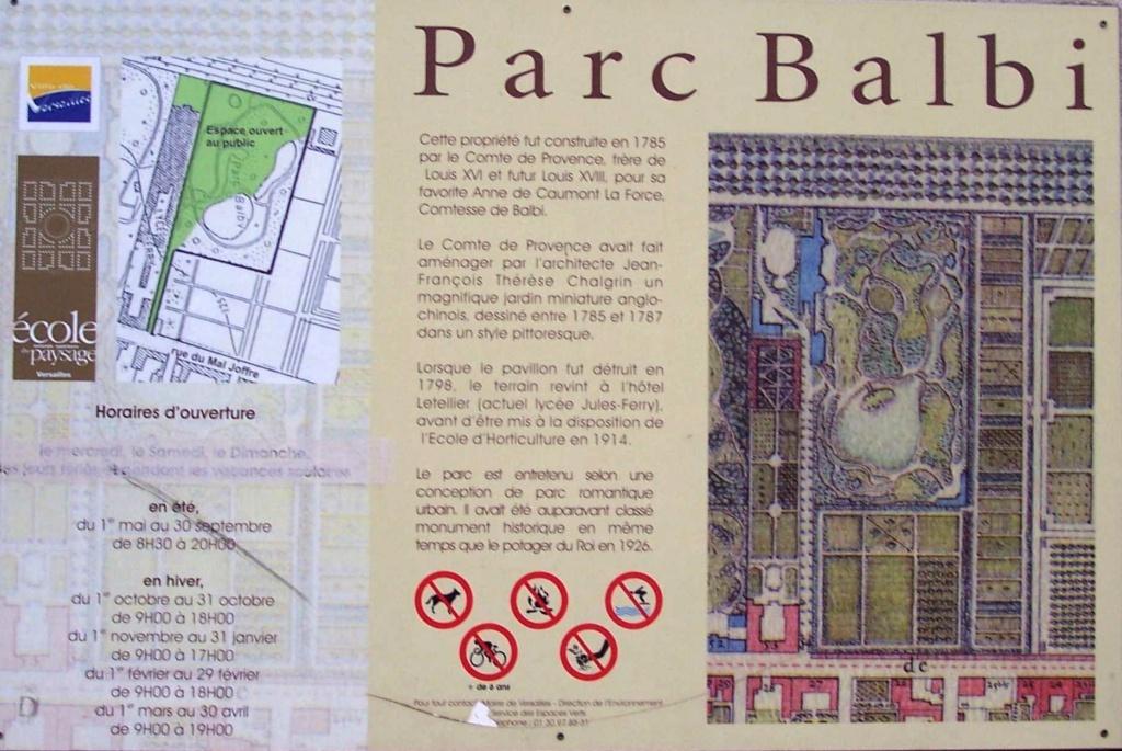 Le parc et le pavillon du comte de Provence et de la comtesse de Balbi à Versailles, aujourd'hui Parc Balbi Versai21
