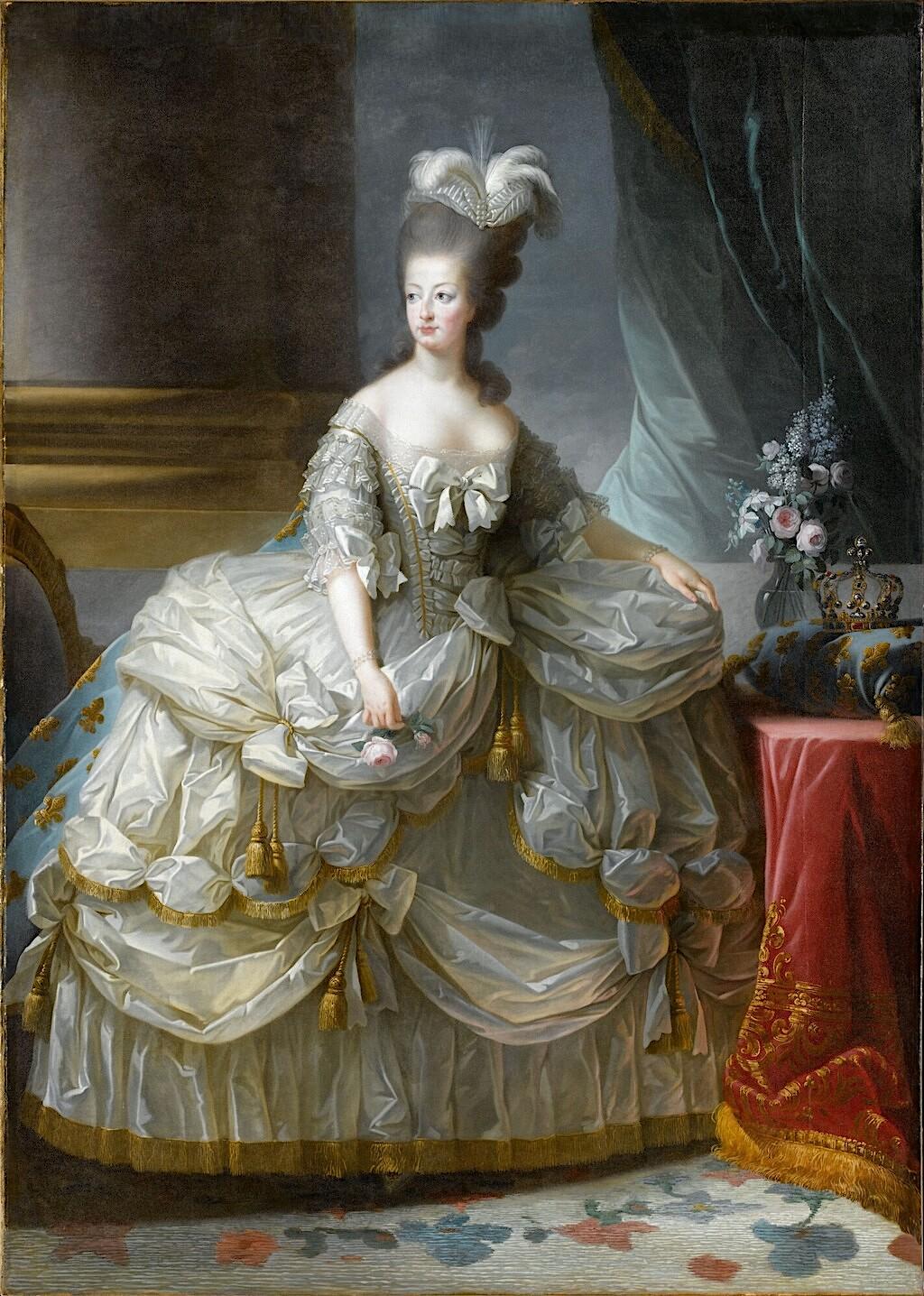 Premier portrait officiel de Marie-Antoinette par Mme Vigée-Lebrun (1778) Vigee_11