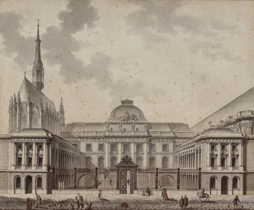 Le palais de Justice de L'île de la Cité, Paris, et la salle du Tribunal révolutionnaire Vue_du14