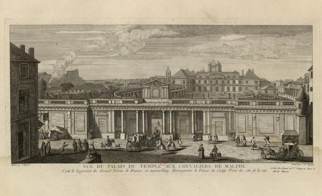 temple - L'Hôtel du Grand Prieur au Temple, chez le comte d'Artois Vuei_d10