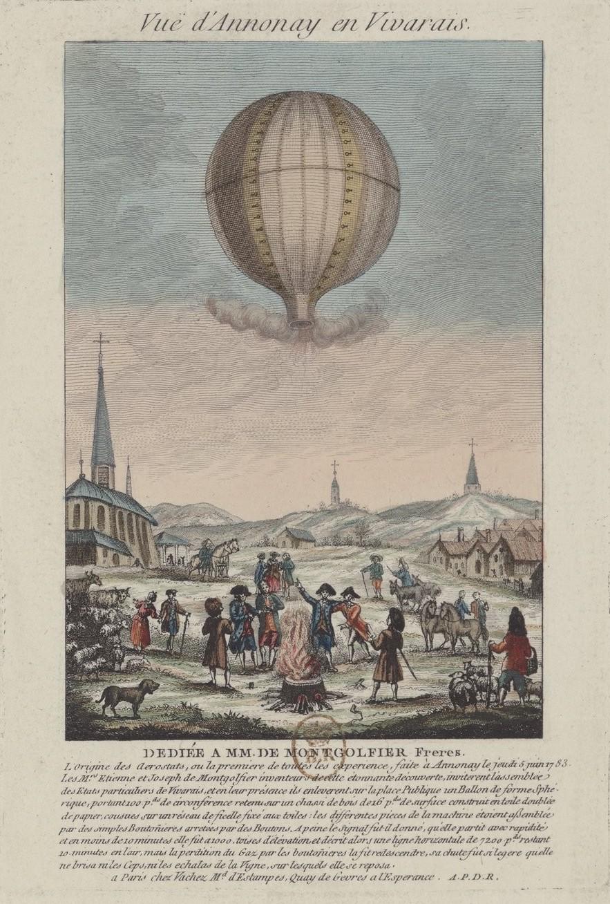 La conquête de l'espace au XVIIIe siècle, les premiers ballons et montgolfières !  - Page 8 Vuei_d11