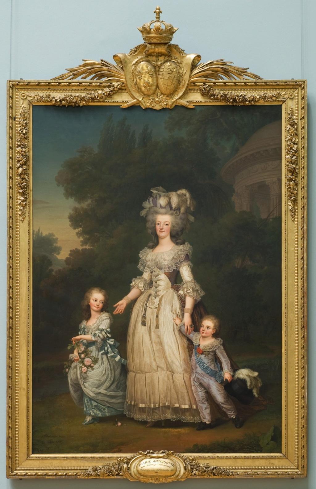 Portrait de Marie-Antoinette avec ses enfants à Trianon, par Wertmüller Wertmu13